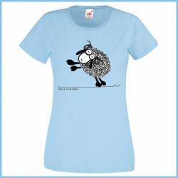 Koszulka damska owca pogodna