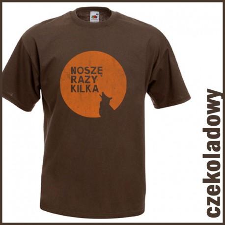 Koszulka męska Noszę razy kilka (oranżowy wilk)