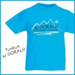 Koszulka junior W GÓRACH turkusowa
