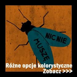 Koszulka męska Nic nie muszę  (nadruk pomarańczowo niebieski)