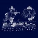 Koszulka męska z aniołami (biały nadruk)