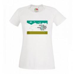 Koszulka damska TATRZAŃSKIE SZCZYTY - zielony nadruk