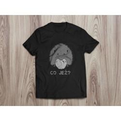 Koszulka damska CO JEŻ (biały nadruk)