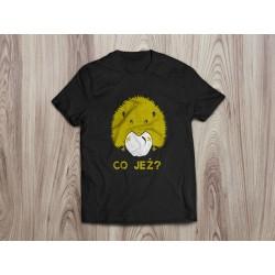 Koszulka damska CO JEŻ (żółty nadruk)