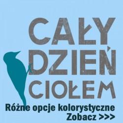 Koszulka dla dzieci Cały dzień ciołem (niebieski dzięcioł)