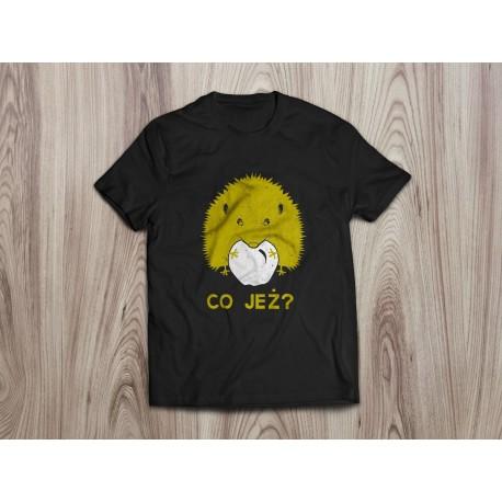 Koszulka dla dzieci CO JEŻ (żółty nadruk)