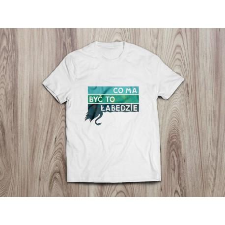Koszulka dla dzieci ŁABĘDZIE (niebieski nadruk)