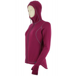 Bluza damska z kapturem i łapkami rozpinana Power Stretch Pro 080080 D