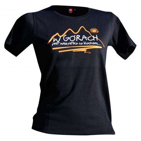 koszulka damska W GÓRACH czarna Intrelock 0508
