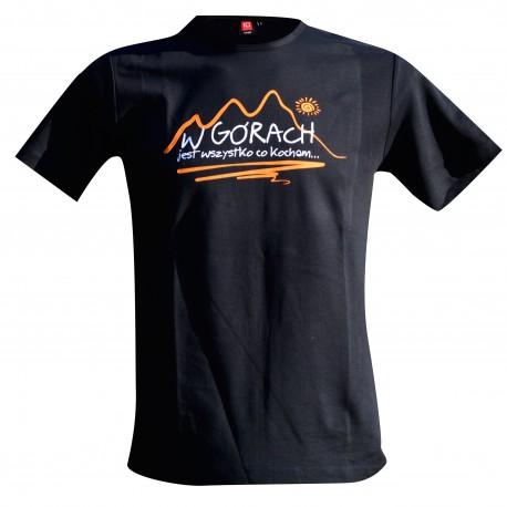 koszulka męska W GÓRACH czarna Intrelock 0517