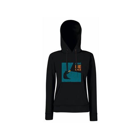Bluza z kapturem damska MI SIĘ NIE CHCE czarna