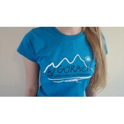 Koszulka damska W GÓRACH niebieska
