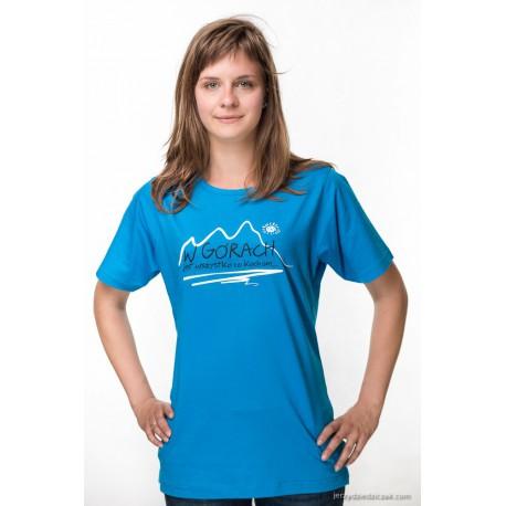 Koszulka damska W GÓRACH T-Time turkus