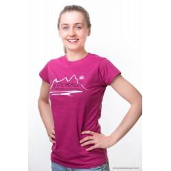Koszulka damska W GÓRACH magenta