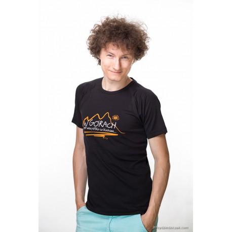 Koszulka termoaktywna męska W GÓRACH czarna
