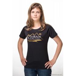 Koszulka termoaktywna damska W GÓRACH czarna