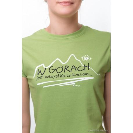 Koszulka damska W GÓRACH zielona2  S