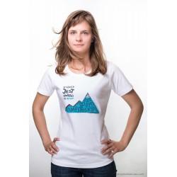 Koszulka damska W GÓRACH 2013  INTERLOCK biała