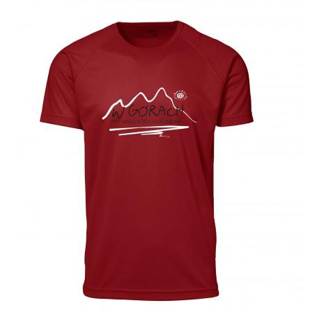 koszulka termoaktywna męska W GÓRACH czerwona
