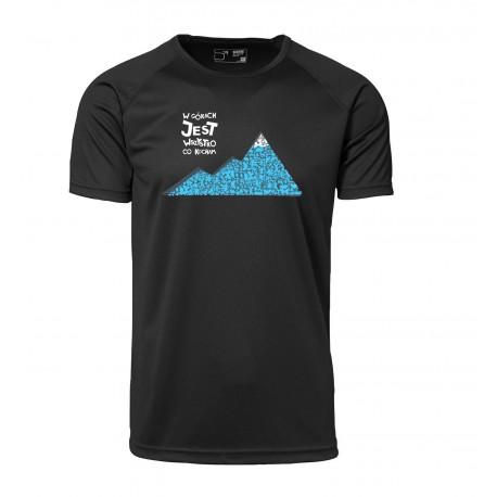 Koszulka termo men W GÓRACH 2013 czar N S