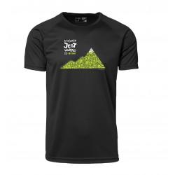 Koszulka termoaktywna męska W GÓRACH 2013 czarna zielony nadruk