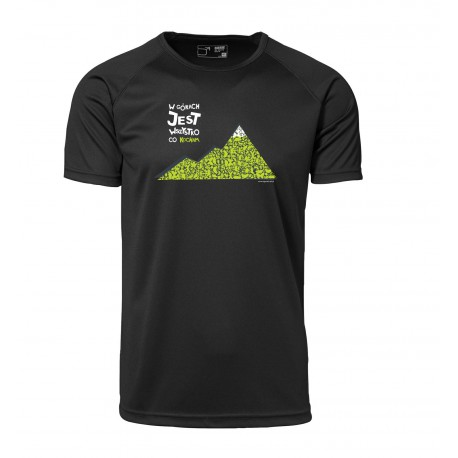 Koszulka termoaktywna męska W GÓRACH 2013 czarna