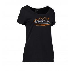 Koszulka damska W GÓRACH czarna ID 0541