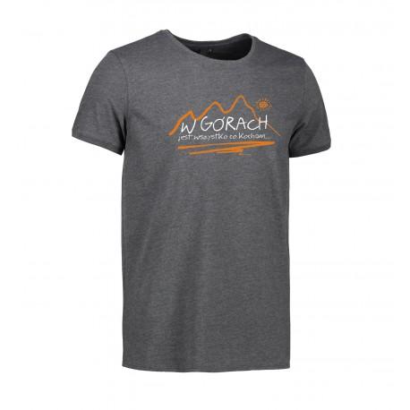 Koszulka męska W GÓRACH grafit ID 0540