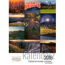 Kalendarz Cezary Jackowski- Pionowy - W górach 2018
