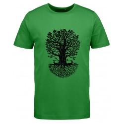 koszulka męska DRZEWO zielona S