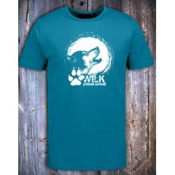 Koszulka męska WILK niebieska