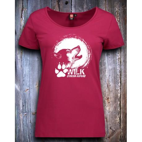 Koszulka damska WILK fuksja