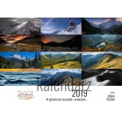 Kalendarz Adam Brzoza - Poziomy - W górach 2019