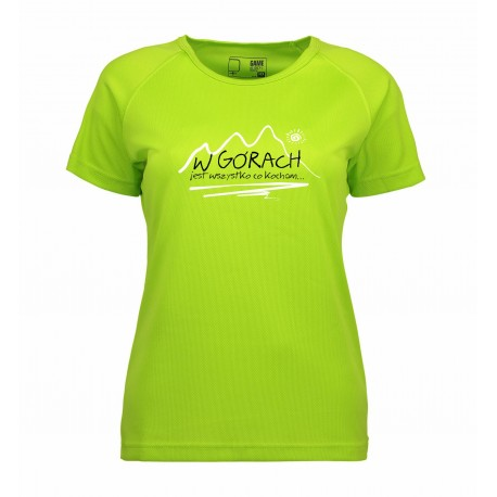 koszulka termoaktywna damska W GÓRACH lime