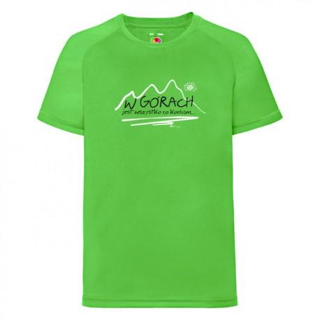 Koszulka termoaktywna junior W GÓRACH zielona