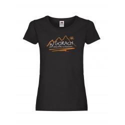 Koszulka damska W GÓRACH czarna