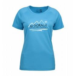 Koszulka damska termoaktywna  W GÓRACH niebieska