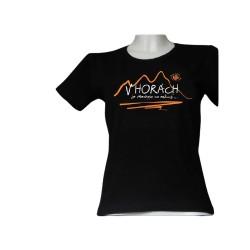 Koszulka damska V HORACH czarna