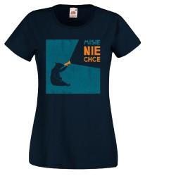Koszulka damska Misie nie chce (pomarańczowy napis)