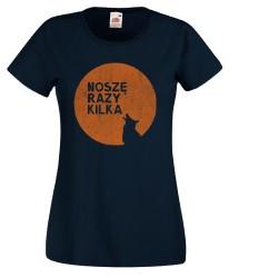 Koszulka damska Noszę razy kilka (oranżowy wilk)