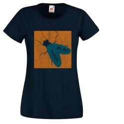 Koszulka damska Nic nie muszę (nadruk pomarańczowo niebieski)