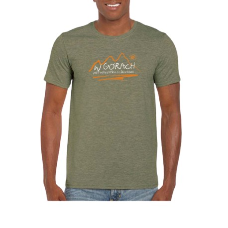 Koszulka męska W GÓRACH oliwkowa