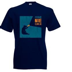 Koszulka męska Misie nie chce (pomarańczowy napis)