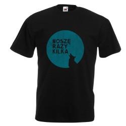 Koszulka męska Noszę razy kilka (niebieski wilk)