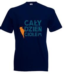 Koszulka męska Cały dzień ciołem (nadruk pom.)