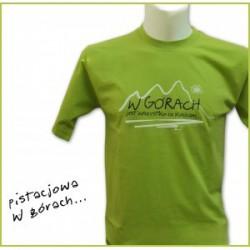 Koszulka męska W GÓRACH zielona